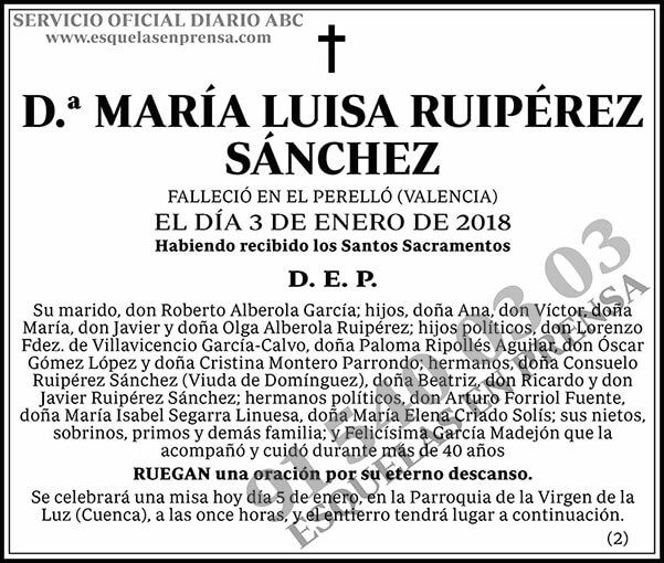 María Luisa Ruipérez Sánchez